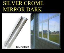 "24"" x30' Home Window Tint Silver/Black Film Crome Mirror Stop Heat 2ply 05% Dark"
