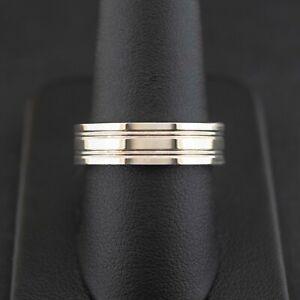 (NE6) Argentium 935 Silver Band Ring SIZE R
