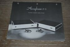 Accuphase F-5 Electronic frequency Dividing Network Original Catalog Catalogue