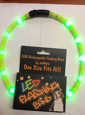 Animate flashing band - LED rechargeable dog collar hunting
