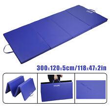 Gymnastikmatten Klappbar Blau Tragbar Gymnastikmatte Turnmatte 300x120x5 cm