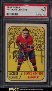 1967 Topps Hockey Jacques Lemaire ROOKIE RC #3 PSA 7 NRMT