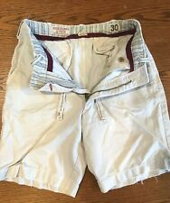 Lot of 2 Early 00s Abercrombie & Fitch Casual Chino Shorts Sz 30 Distressed