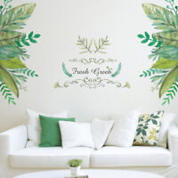Removable Green leaves Sticker Wall Decal Vinyl Mural Art DIY Home Decor
