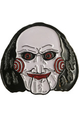 Saw Billy Jigsaw Enamel Pin Horror Movie Evil Puppet Clown Face Collectible Gift