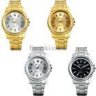 Stainless Steel Luxury Business Sport Analog Quartz Watches Men's Wrist Watch
