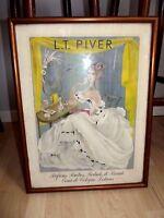 """Original Vintage French Poster """"LE PARFUM L.T.PIVER"""" -Signed FRANCOISE ESTTACHY"""