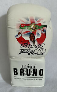 """Frank Bruno Picture Boxing Glove """"Best Wishes"""" Bidding From £49.99"""