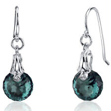 11 CT Color Changing Alexandrite Sterling Silver Dangling Earrings