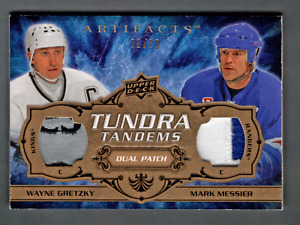 2008-09 UD Artifacts Dual Patch 4clr Wayne Gretzky, Mark Messier #/35 Tundra