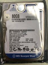 "Western Digital Scorpio Blue 80GB 5400RPM 2.5"" (WD800BEVE) HDD IDE"