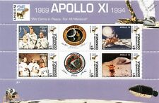 APOLLO XI / Moon Landings Apollo 14 & 15 Crew Space Stamp Sheet (1994 Dominica)