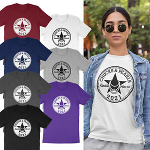 Chucks and Pearls 2021 Gift Kamala Harris Adults & Kids Unisex T-Shirt