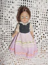 Vtg-70s-Symbol Quality Doll 7013 Brown Hair-Dot head bright Industry Ginny Clone