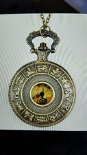 Hot Vintage Old World Map Travelers Pocket Watch Necklace chain Australia