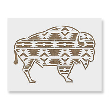 Aztec Buffalo Stencil - Reusable Mylar Stencils for Painting