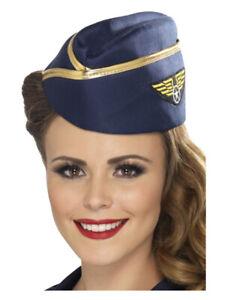 Air Hostess Hat, Blue