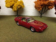 1980 PONTIAC TRANS AM FIREBIRD RED 1/64 SCALE LIMITED EDITION REAL RUBBER