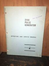 Vintage Hewlett-Packard 214A Pulse Generator Service Manual.