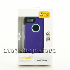OtterBox Defender Rugged iPhone SE 5s 5 Case w/Holster Belt Clip Purple/Teal Use