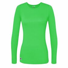 Sivvan Women's Comfort Long Sleeve T-Shirt, Underscrub Tee, Yoga Tee, *NEW*