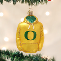 UNIVERSITY OF OREGON HOODIE Glass Ornament Old World Christmas New