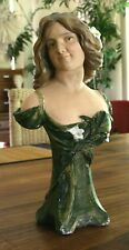 VINTAGE FRENCH ART NOUVEAU PLASTER / CHALK BUST