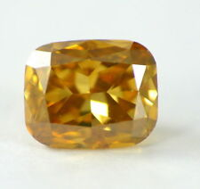 0.52 carat Fancy Yellow Orange VS2 Loose 100% Natural Diamond Cushion Cut CERT