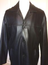 REMY Leather Jacket BLACK - Sz 42  Made in USA  EXCELLENT!