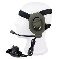 Black HD01 Z Tactical Bowman Elite II U94 2 Pin PTT Headset For Kenwood Radios