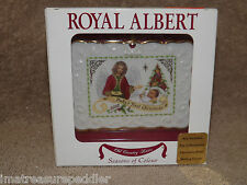 Royal Albert Old County Roses Seasons Colour 2002 Baby's 1st Christmas ornament