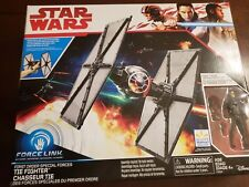 STAR WARS FORCE LINK FIRST ORDER TIE FIGHTER with PILOT Walmart Exclusive NIB