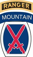 """10th Mountain Division Airborne Ranger 5.5"""" Sticker 'Officially Licensed'"""