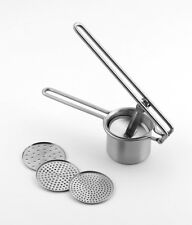 Grunwerg Stainless Steel Potato Ricer with 3 Interchangeable Disks - FREE P&P