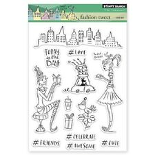 PENNY BLACK RUBBER STAMPS CLEAR BON FASHION TWEET STAMP SET 2014