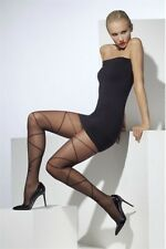 Sheer Tights With Cross And Bow Black New Adult Halloween Cristmas Womens Fever