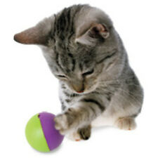 Go Cat Go PLAY-N-TREAT Ball Treat Dispenser Pet Cat Kitten Toy Food Dispensing