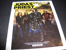 Judas Priest Masters Of Metal Return To Reignite 2009 Promo Display Ad mint cond