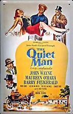 Quiet Man John Wayne embossed steel sign  (pt hi 3020)
