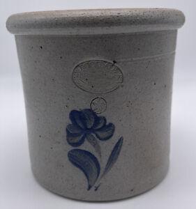 Rockdale Union Stoneware Crock Salt Glazed 4.5 Inch Pottery 1993
