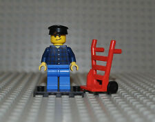 damier pull Truck Driver twn195 4000008 LEGO Figurine Town Homme dunkelbl