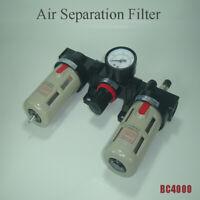 "G1/2"" BC4000 Regulator Gauge Air Compressor Trap Filter Oil Water Separator"