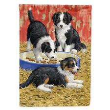 Caroline's Treasures Outdoor Large House Flag Border Collie Pups Puppies 28X39