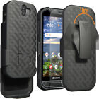 For Kyocera Duraforce Pro 2 Belt Clip Holster Case with Tempered Glass Protector