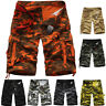 Men's Camo Cargo Shorts Military Army Camouflage Short Summer Casual Pants