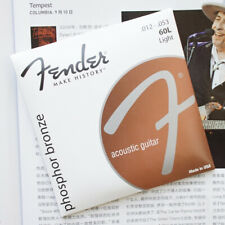 Fender Phosphor Bronze Acoustic Guitar Strings 12-53 Light Gauge 60l - 3pack