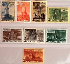 RUSSIA SOWJETUNION 1950 1527-34 Moskauer Hochbauten Skycrapers Moscow MLH