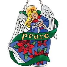 Joan Baker Hand painted Suncatcher-SSC1015-Angel/Peace art glass new