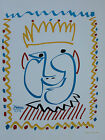 """Pablo Picasso Lithograph """"Jovial King"""" First Edition 1957"""