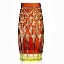Vase Yellow Uranium Date-Lined Glass